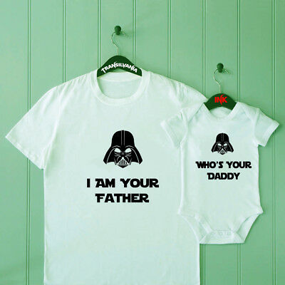 Who's Your Daddy Dad and Son Matching T Shirt Baby Shower Bodysuit Father Gift