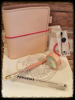 Foxy Fix Travelers Notebook | RARE BAY LEATHER | Size 2 | PenGem Pen | Paca Post