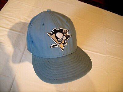 new concept 1cffd af766 Pittsburgh Penguins Light Blue Hat New Era 59Fifty NHL Fitted 7 1 2