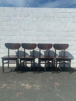 Set of Dining Chairs Mid Century Modern Seating Wood Kitchen Chair Danish Style