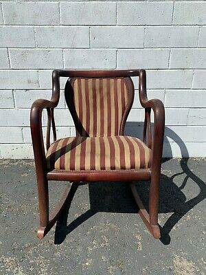 Antique Rocking Chair Wood Armchair Traditional Victorian Vintage Entry Way Seat