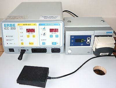 ERBE ICC 200 Electrosurgical Unit with ERBE EIP2 Irrigation Pump & Foot Switch