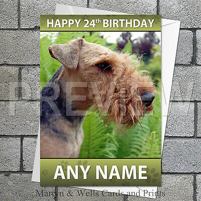Welsh Terrier Birthday Card by Curiosity Crafts PERSONALISATION AVAILABLE