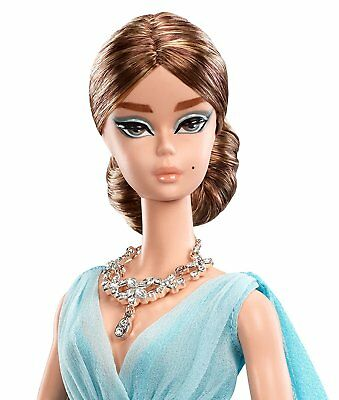 Fashion Model Collection Blue Chiffon Ball Gown Barbie Doll New from Japan