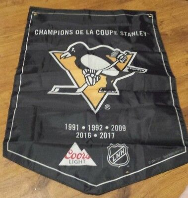 Coors NHL Banner Hockey Stanley Cup Banner Lots OF Teams..You Choose BUY NOW $9