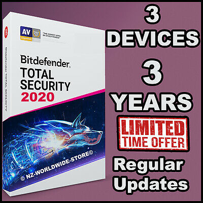 Bitdefender Total Security 2019 / 2020 - 3 Years Activation  3 Devices Download