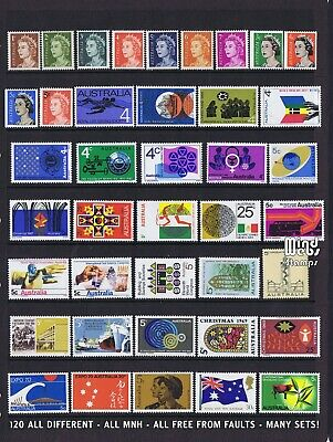 Australian Decimal Stamps 105 All Different 1966-1975, All MNH, **BEAUTIFUL!!