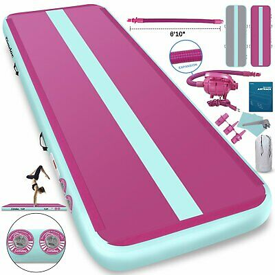 Air Track Floor Inflatable Airtrack Gymnastics Tumbling GYM Mat 3x1M w/Pump UK