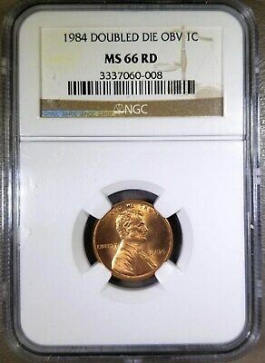1984 Lincoln Memorial Cent Doubled Die Obverse NGC MS66 RD 1c DDO