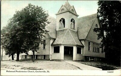 1914. REFORMED PRESBYTERIAN CHURCH. COULTERVILLE, ILL. POSTCARD w9