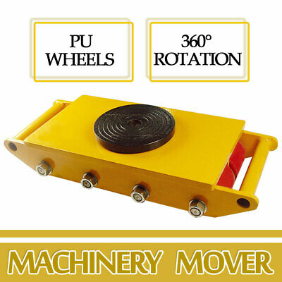 Heavy Duty Machine Dolly Skate Machinery Roller Mover Cargo Trolley 6Ton 13200lb