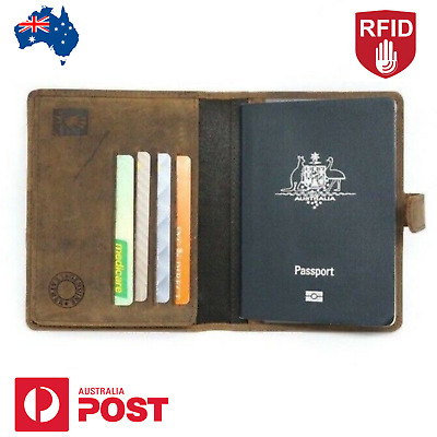 Personalised Leather Passport Holder, Custom Engraved, Personal Message, Gift AU