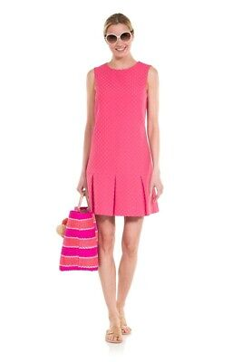 SAIL TO SABLE sz 4 Dotted Up Pink Dress box pleat Jacquard $258 WOW
