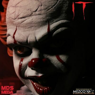 Mezco Pennywise IT 2017 Mega Scale Talking Figure Designer Series New In Stock