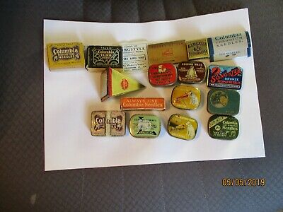 Collection of gramophone phonograph needle tins & packets most with needles