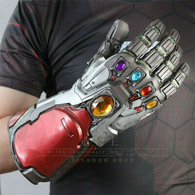 Avengers 4 Endgame Infinity Gauntlet Cosplay Iron Man Tony Stark LED Glove Props