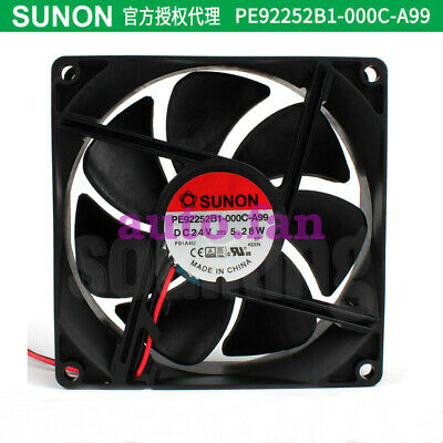 1PC SUNON PE92252B1-000C-A99 24V 5.28W large air volume cooling fan 92*25MM
