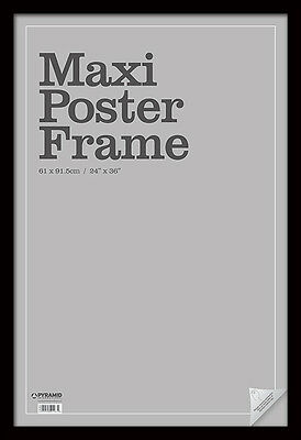 Black MDF Maxi Poster Frame for standard 61 x 91.5cm maxi posters - Frame4W