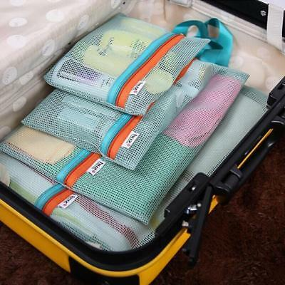 Luggage Clothes Storage Bags Travel Toiletry Mesh Pouch Handbag Pouch Purse HD