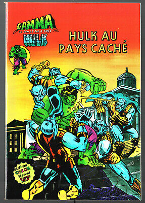 GAMMA n°9 ¤ HULK AU PAYS CACHE ¤ 1980 ARTIMA COLOR MARVEL SUPER STAR
