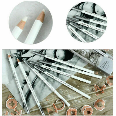 1/4PCS White Pastel Charcoal Drawing Sketch Pencil Non-toxic Artist Crafts Gifts