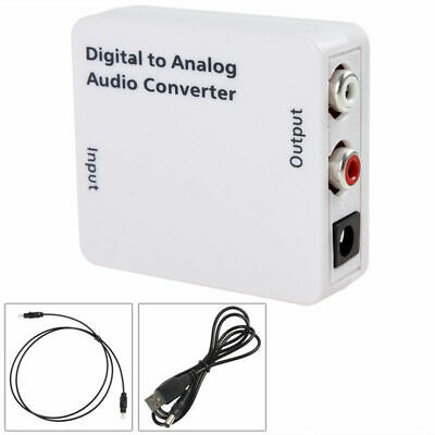 1X(Optico 3.5mm Coaxial Toslink Digital a Analogico Conversor adaptador de au 7Y