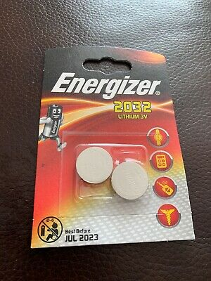 Brand New Pack Of 2 Energizer CR2032 Lithium 3V Coin Cell Battery