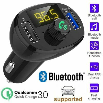 Wireless Bluetooth Car Kit FM Transmitter Handsfree Dual USB Charger MP3 Player