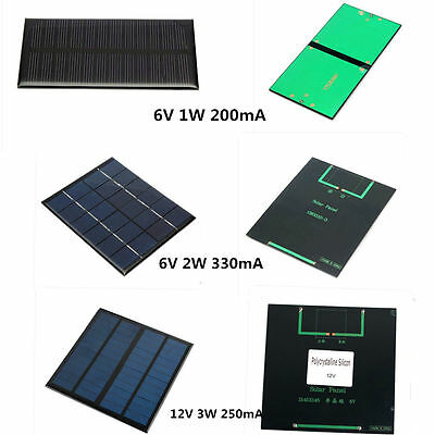 6V/12V Solar Panel Mini Solar System DIY For Battery Cell Phone charger