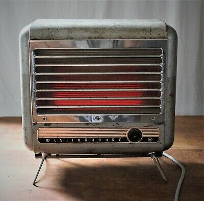 Vintage Heater Funky Retro Westinghouse G8 For Film Set/Theatre Prop Working