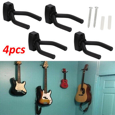 Adjustable 4X Guitar Hanger Wall Mount Display Bracket Hook Holder Bass Stands