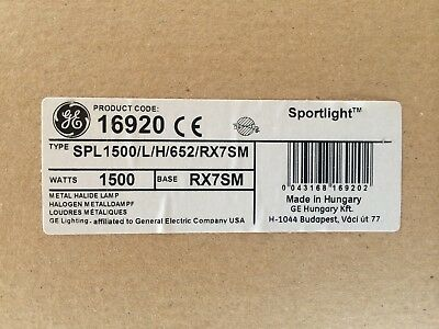 Brand NEW GE 1500W Sportlight Metal Halide Lamp 16920 SPL1500/L/H/652/RX7SM