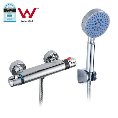 Modern Thermostatic Bathroom Taps Bath Mixer Bar Valve Tap With Wall Shower Head