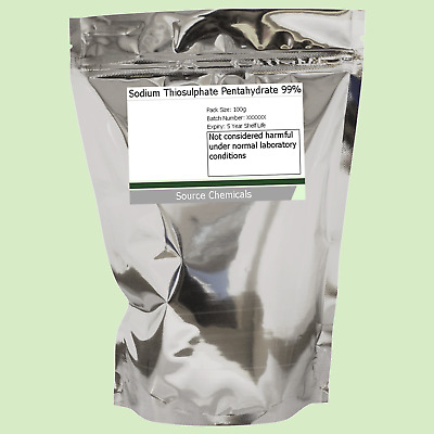 Sodium Thiosulphate Pentahydrate 99% 100g to 500g