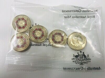 "Mint Bag 5 x Coins 2019 $2 Bring Them Home "" Repatriation Centenary"" Sealed Bag"