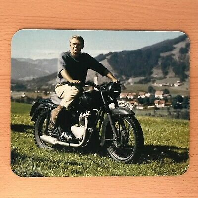 Steve McQueen mouse mat desktop mouse pad made in UK