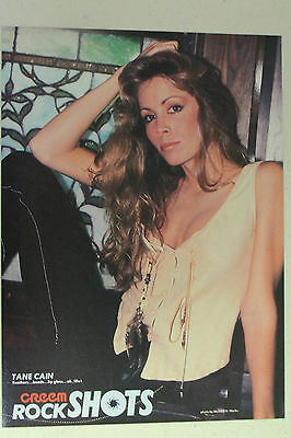 TANE CAIN Full Page Pinup magazine clipping rare pic of her SEXY POSE