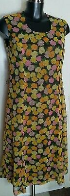 Modell Vintage Dress with pink orange and yellow flowers 32 inch bust