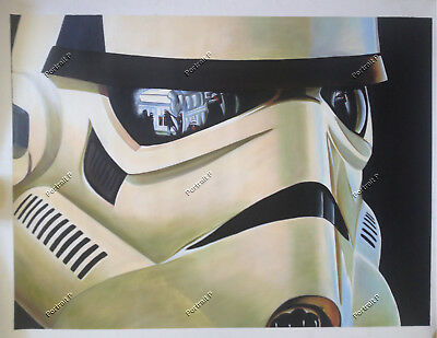 Stormtrooper Oil Painting Star Wars Art Hand-Painted Canvas NOT a Print 24x30
