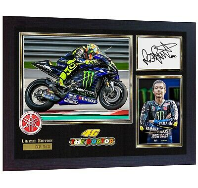 NEW Valentino Rossi signed autographed print photo FRAMED