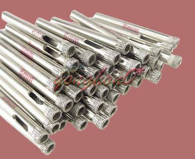 """10pcs 6mm Diamond Coated Core Drill Drills Bit Hole For Saw Tile Glass 1//4/"""" Inch"""