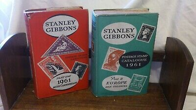 2 X Stanley Gibbons Stamp catalogue 1961 part 1 + part 2 Europe Commonwealth
