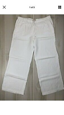 9c59a84abf Merona Womens Pants Cotton White Comfort Waist LoungeTrousers Drawstring  Size Xl