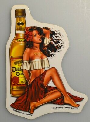 Tequilla Girl Aufkleber Sticker Decal sexy mexican Pin Up Girl