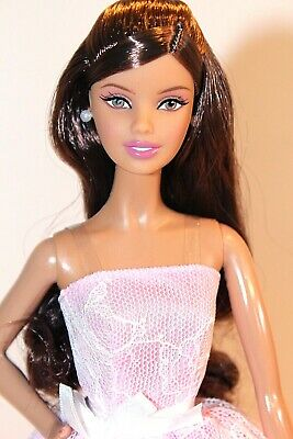 Barbie Doll 2015 Happy Birthday Wishes Latina Pink Lace Dress Model Muse