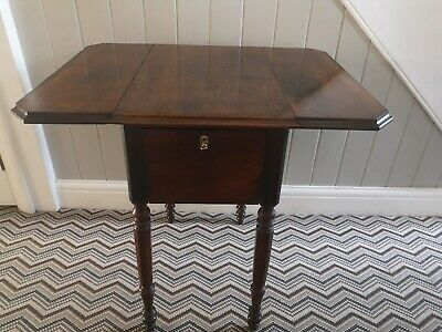 Antique Early Victorian Rosewood Sewing Work Table