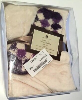 Orchid Booties Size L Soft /& Cozy Plush Throw and Booties Set