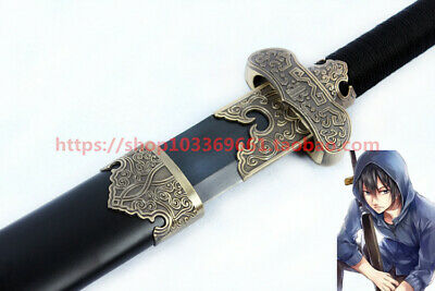 s0190 ANIME TOMB NOTES ANTIQUE BRASS BLACK GOLD OF ANCIENT KNIFE SWORD 41.1""