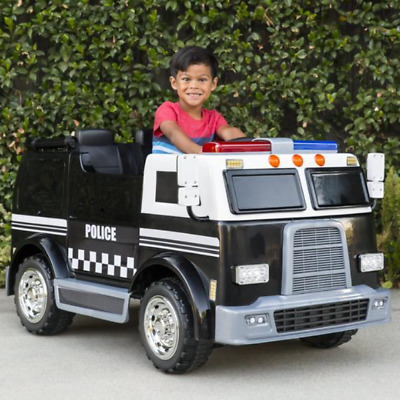 19195c7111af 12V KIDS RIDE on Toy Double-Drive Police Cars w/ Siren Detachable ...