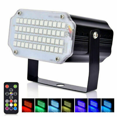 48 LED RGB Stage Light DJ Strobe Light For Bar Show Party With Remote Control